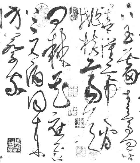 calligraphy tattoo. Typical Cao Shu calligraphy.